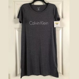Calvin Klein women's sleep shirt dress tunic gray
